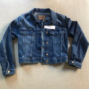 Sanctuary Cropped Denim Jacket NWT in Laguna Blu S